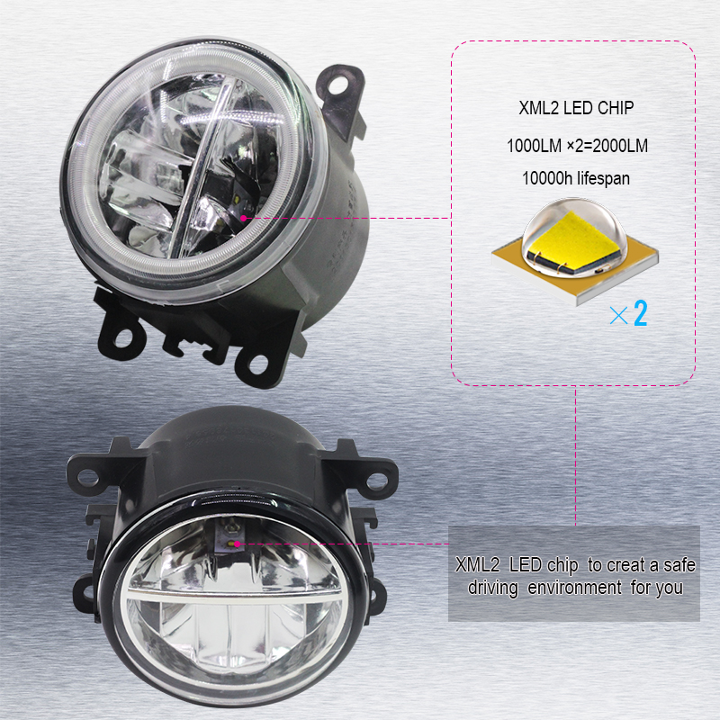 Image 3 - Cawanerl For Ford Focus MK2 MK3 2004 2015 Car LED Bulb 4000LM Front Fog Light + Angel Eye Daytime Running Light DRL 12V 2 Pieces-in Car Light Assembly from Automobiles & Motorcycles