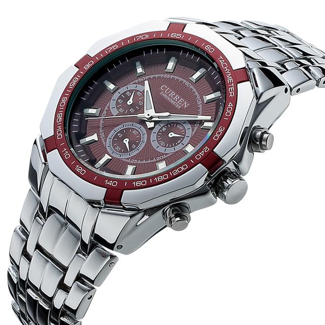 CURREN luxury top brand new fashion casual sport man male clock military classic business army strap wrist quartz watch 8084