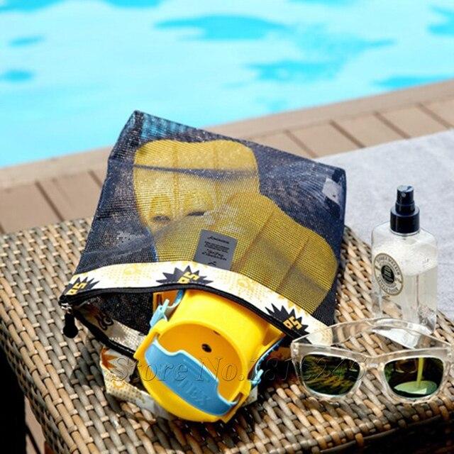 US $4.29 |Kleine Größe Tragbare Reise Aufbewahrungstasche Mesh Handtasche Schultertasche Strand Schwimmen Dusche Taschen Organizer Folding Strand