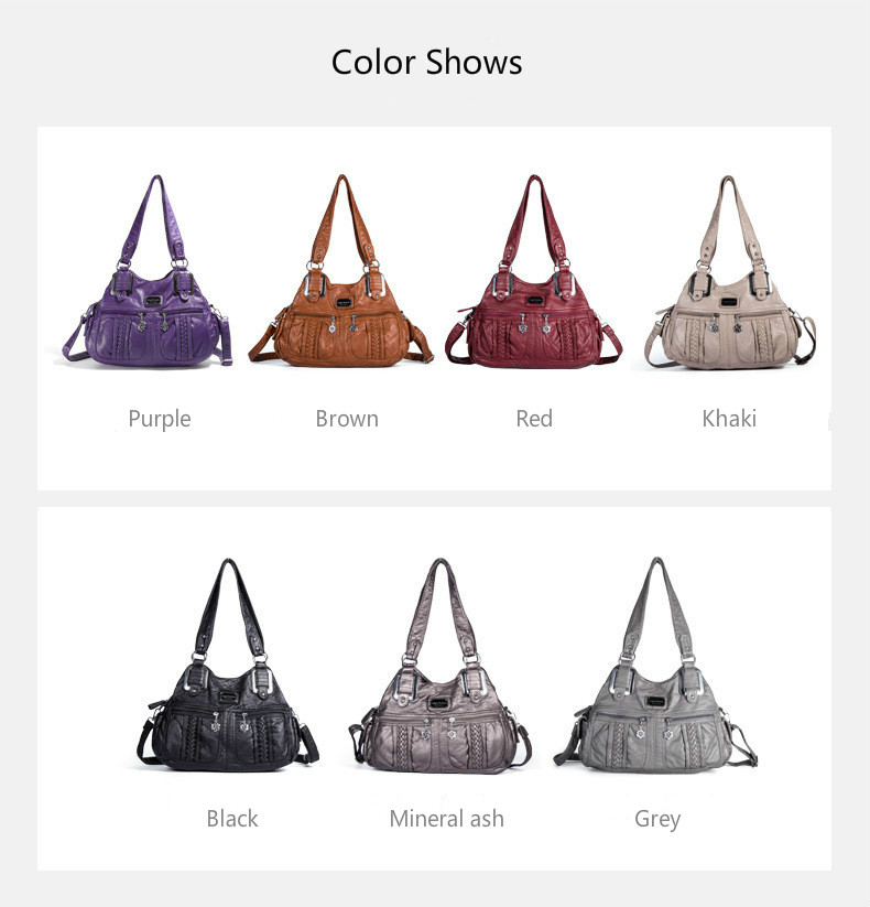 Moda de luxo das mulheres lavadas bolsas