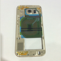 10Pcs Free DHL Original Middle Frame Bezel Housing Chassis With Back Camera Lens Glass Cover For