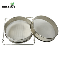 Sennan Stainless Steel Bilayer Honey Filters Strainer Network Stainless Steel Screen Mesh Filter Beekeeping Tools Honey Tools