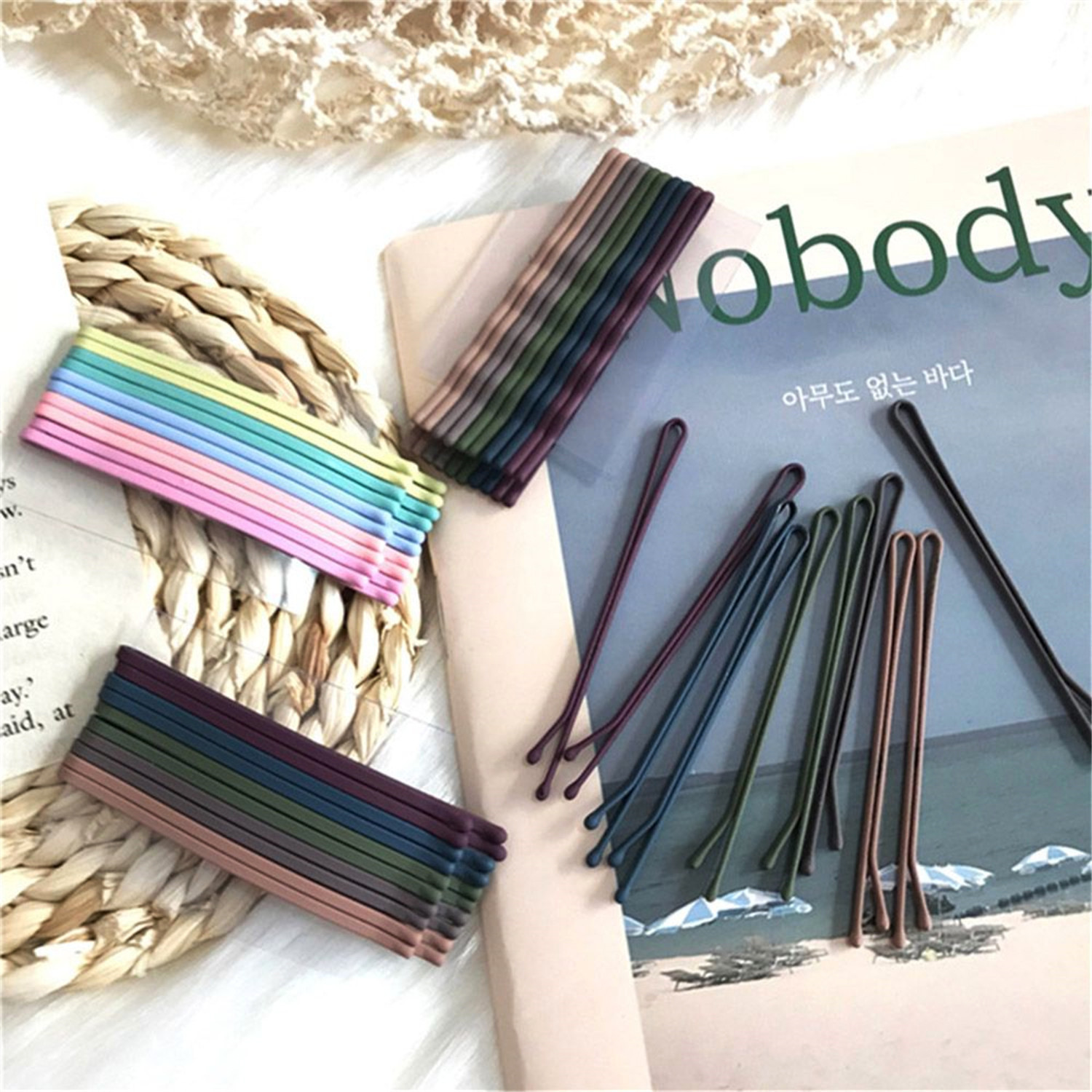 10 Pcs/Set Chic Retro Hair Clip Women Ladies Metal Hairpins Curly Wavy Straight Women Bobby Pins Hair Styling Accessories