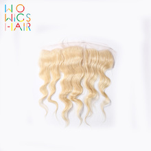 WoWigs Hair  Lace Frontal Platinum Blonde Body Wave Remy 100% Human Free Shipping