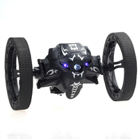 RC Bounce Car 2.4 G Remote Control Toys Jumping Car with Flexible Wheel Rotation LED Night Lights RC Robot Car for gift FSWB