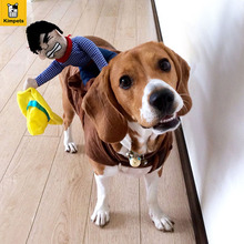 Petcircle Hot Sale Dog Suit Pet Clothes Dog Clothes Pet Cowboy Horse Riding Clothes Dog Costume Novelty Funny Party Pet Clothing