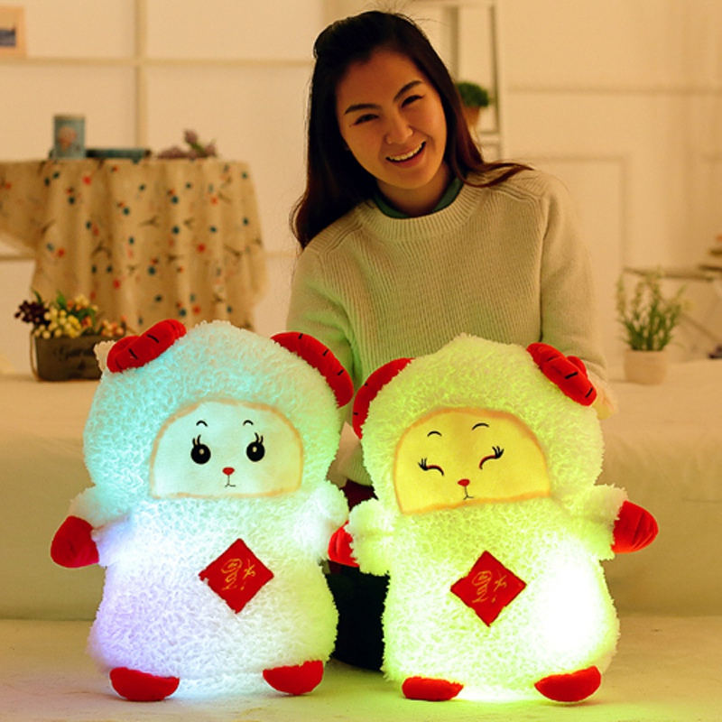 50cm Super cute Plush   Stuffed Led Light Cute Sheep Toy Kid Toy Luminous Colorful Animal Doll Gift For Girl