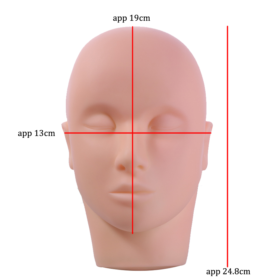 Training Mannequin Head Massage Makeup Eyelash Extension Practice Model Hats Hairs Glasses Display for Wigs Showcase