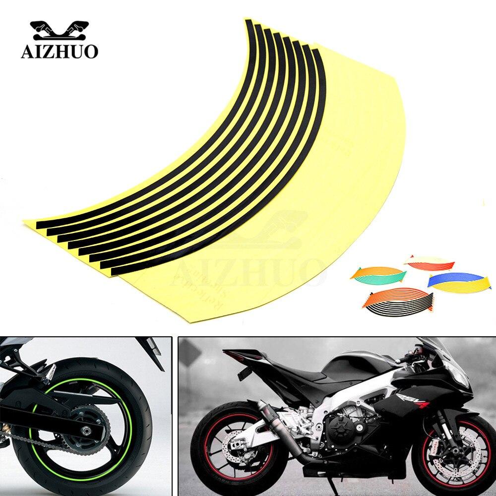 17inch18inch Wheel Strips Motorcycle Reflective Wheel Sticker For Yamaha Yzf R25v R15 R125 Tmax530 Tmax 500 Ktm 1190 Adventur