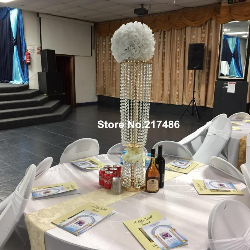 Shinny Floating Centerpiece: Gold Centerpieces Vase/ Wedding 80cm Gold/sliver