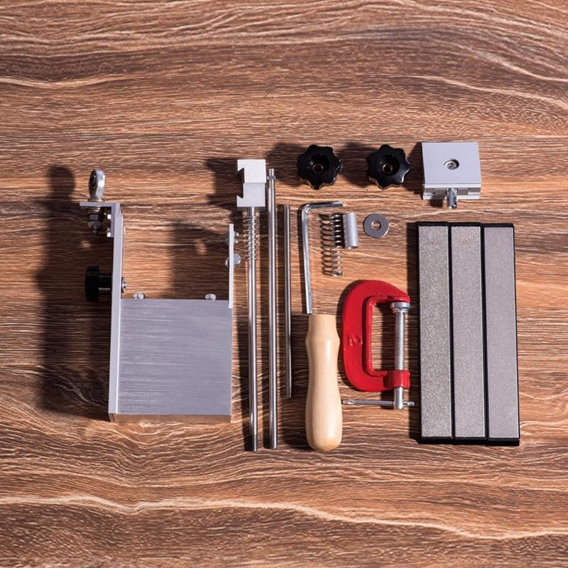 New update Aluminum alloy steel knife sharpener Professional Kitchen Knife Sharpener Sharpening Fixed Angle with Diamond stones Sharpeners     - title=