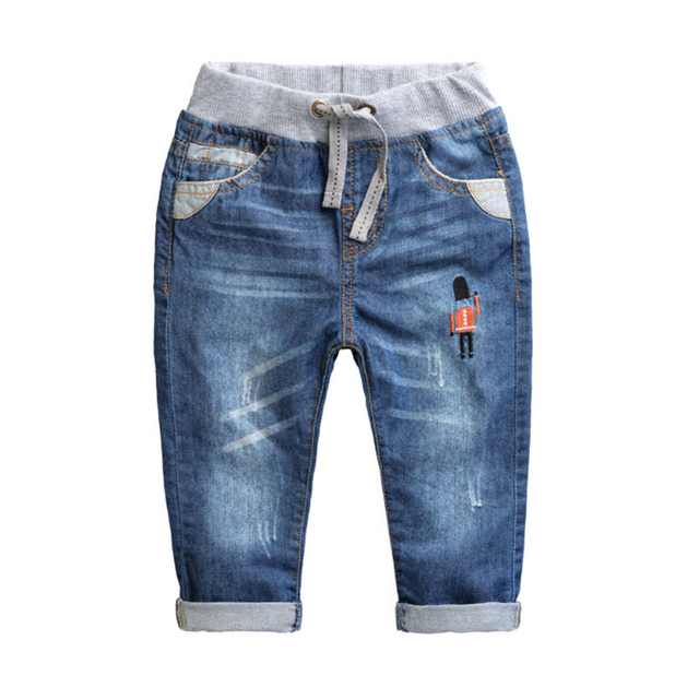 Boy Jeans The New Baby Clothes 2017 Spring Cotton Pants All-match Child Soldier Jeans ATSK0005