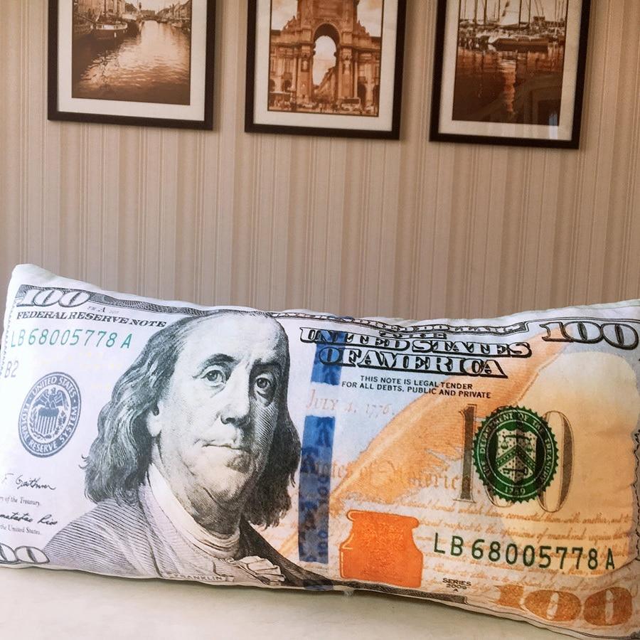 Creative Currency Plush Pillow Stuffed Dollar Pound Thai Yen Won Long Thailand Korea An U S United Kingdom 60 30cm