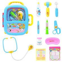 Baby Doctor Pretend Toys Play Child Medical Kit Doctor Toys For Kids Role Play Set Classic Toy Simulation Hospital Gift For Kid(China)