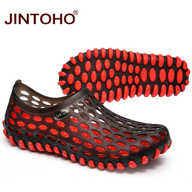 a584fb8a6dc99 JINTOHO New 2017 Famous Brand Casual Men Sandals Fashion Plastic Sandals  Summer Beach Shoes Water Shoes