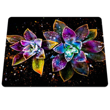 New arrival flowers abstract water drop DIY Printing Pattern Soft Silicone Anti-slip Computer Mouse Mat Gaming Rectangular Pads