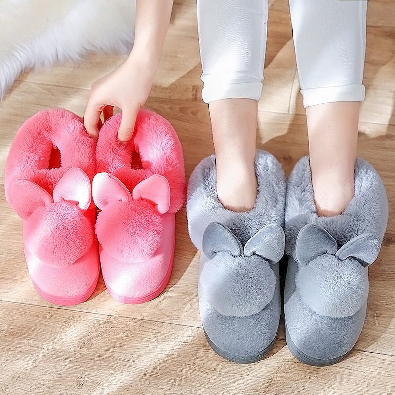 Fuzzy slippers superstar shoes women slippers 2018 winter new style cow suede indoor home slippers plus size 36-41