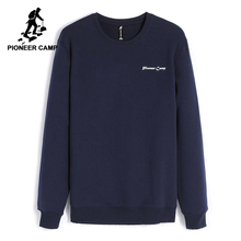 Pioneer Camp fleece thicken sweatshirts men winter warm 100 cotton hoodies male brand clothing casual Plus
