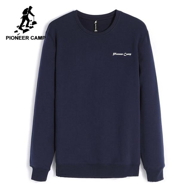 Pioneer Camp z polaru grube bluzy męskie zimowe ciepłe 100% bawełniane bluzy z kapturem męskie marki odzież na co dzień Plus rozmiar XXXL