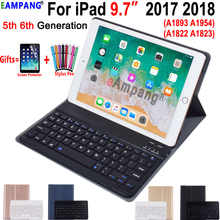 English Russian Spanish Keyboard Case for Apple iPad 9.7 2018 2017 Case A1822 A1893 5th 6th Generation Bluetooth Keyboard Cover - DISCOUNT ITEM  21% OFF Computer & Office