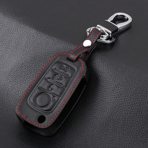 Image 3 - VCiiC Car Key Case Cover For Fiat 500X Toro Tipo Egea 3Button Remote Holder Flip Folding Leather Protector For Dodge Neon Key