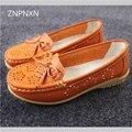 2016 ZNPNXN Новая Мода Лианы Женская Обувь Мокасины Мягкие Кожаные Плоские Платформы Обувь Медсестра Обувь