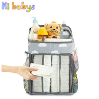 Baby Diaper Organizer Infant Crib Hanging Storage Bag Baby Cot Bed Nappy Pocket Newborn Multi functional Waterproof Diaper Pouch