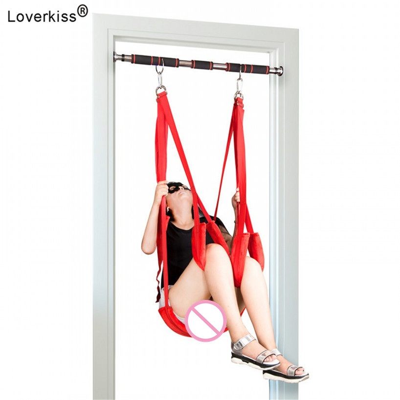 Loverkiss Adult Sex Swing Chairs Hanging Love Swing Sex Toys for Couples Erotic Products Door Swing Bdsm Sex Shop Sex Furnitur fetish sex furniture harness making love sex position pal bdsm bondage product erotic toy swing adult games sex toys for couples
