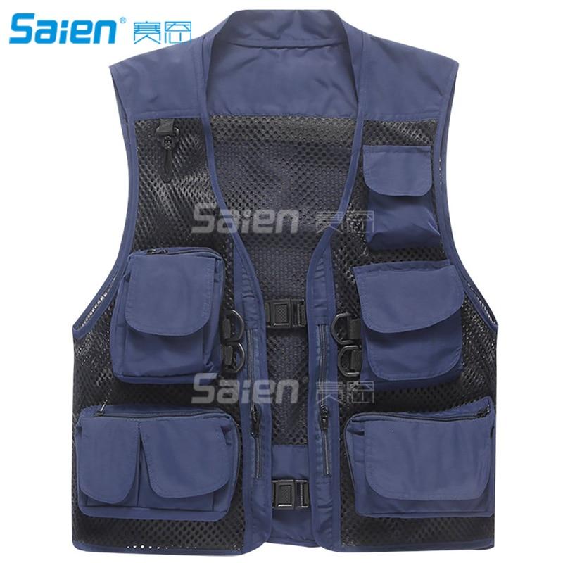 100% Waar Mannen Mesh Ademend Multi-pocket Vest Outdoor Reizigers Vliegvissen Fotografie Aangenaam In De Nasmaak