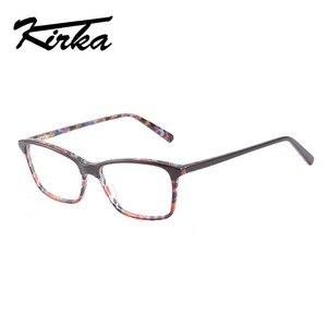 Image 1 - Kirka óculos ópticos feminino óculos quadros óculos para mulher leopardo impressão prescrição óculos quadro