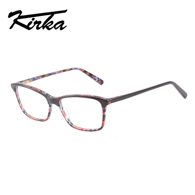 Kirka óculos ópticos feminino óculos quadros óculos para mulher leopardo impressão prescrição óculos quadro