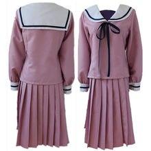 Noragami Iki Hiyori okul üniforması Cosplay kostüm tam seti Sailor takım kıyafet üst + etek + ücretsiz parça