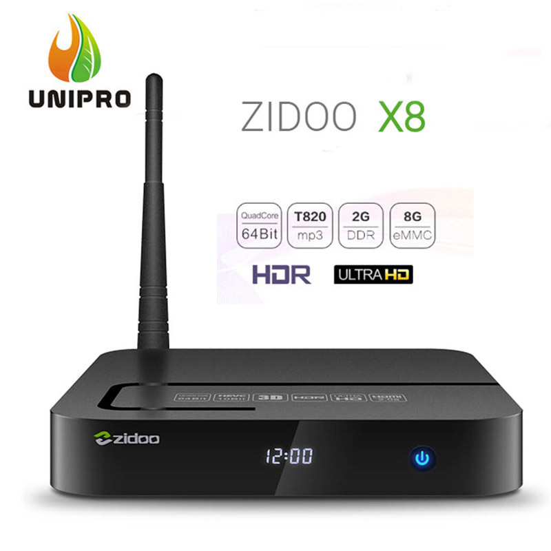 NEW ZIDOO X8 Android 6.0 TV BOX Realtek RTD1295 Open WRT(NAS) 2G8G HDR Bluetooth AC WIFI USB3.0 HDMI2.0 1000M LAN In Stock!