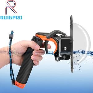 Image 1 - Su geçirmez Dome Port GoPro Hero için 7/ 6/ 5 siyah dalış su geçirmez konut Case şeffaf kubbe kapağı gopro aksesuarları