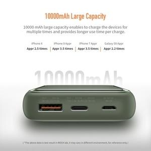 "Image 4 - רוק 18W סוג C פ""ד QC 3.0 כוח בנק 10000mah Mi ni חיצוני סוללה LED תצוגת USB מהיר מהיר טעינת Powerbank עבור שיאו mi Mi"