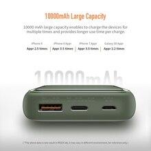 ROCK 18W Type C PD QC 3.0 Power Bank 10000mah Mini External Battery USB PD Quick Fast Charging Powerbank For iphone XS Samsung