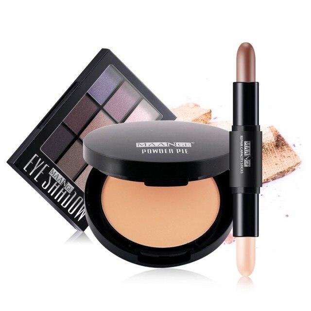 MAANGE Makeup Set Eyebrow Powder Palette Double Head ...