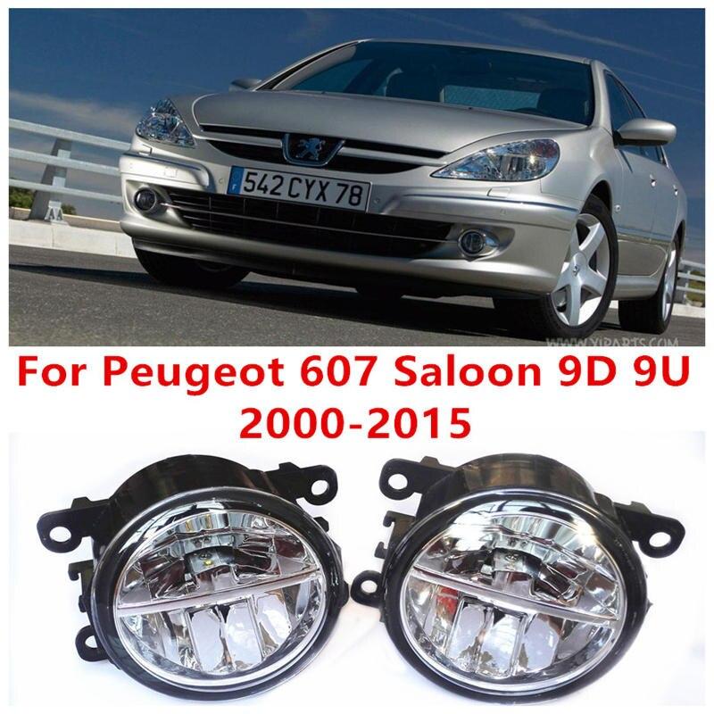 ФОТО For Peugeot 607 Saloon 9D 9U  2000-2015 Fog Lamps LED Car Styling 10W Yellow White 2016 new lights
