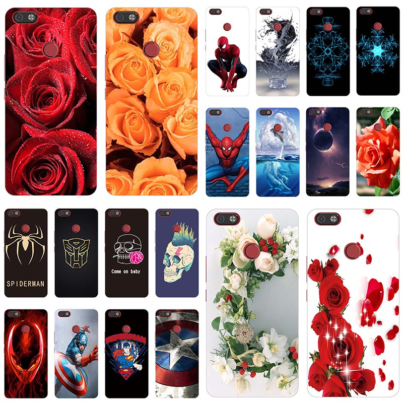 Cases For Tecno Wolf Soft-Silicone Cute Patterned Camon-X-Ca7-X-Pro CA8 Fundas Rose Print