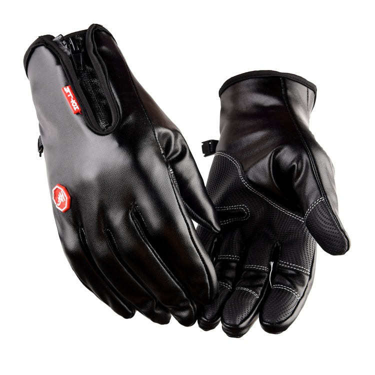 Winter Cycling Gloves Mittens Full Finger Waterproof Windproof Gloves For Women Men Warm Fleece Skiing Mountaineering Gloves