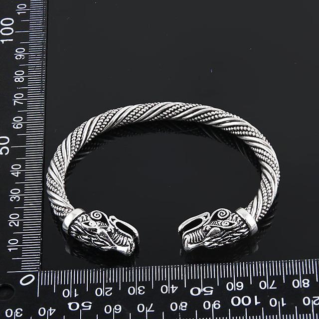 Vikings Wolf Head Ragnar Arm Ring