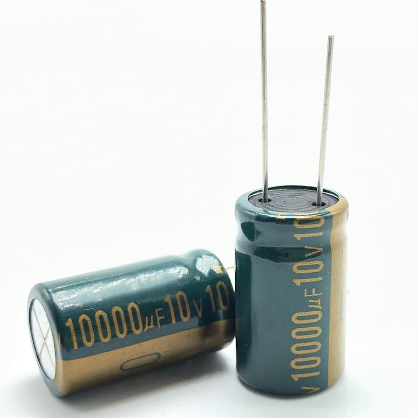 5pcs/lot 10v 10000UF 16*25aluminum Electrolytic Capacitor 10000uf 10v 20%