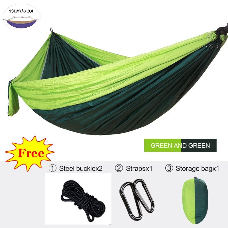 Single Hammock Portable Parachute Sleeping Swing Travel  Backpacking Camping Survival Garden Hunting Outdoor Furniture