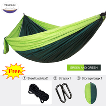 hot deal buy single hammock portable parachute sleeping swing travel  backpacking camping survival garden hunting outdoor furniture