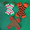 Детские рождественские хэллоуин леггинсы зимние мальчики девочки шеврон хлопка подогреватели руку малыша дети младенец дети с оборками гетры