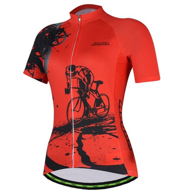 Aogda Ciclismo 2018 Camisa de Ciclismo Definir Mulheres Verão de Manga Curta Desgaste de Ciclismo Roupas de Ciclismo roupas bicicleta Respirável Quick Dry 2