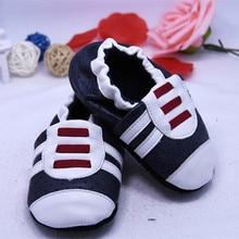 kūdikių odiniai batai pirmieji vaikštyniai Moccasin Slibintis avalynė Soft Soled naujagimiai kūdikių berniukai bateliai berniukai mažylių juostos batai