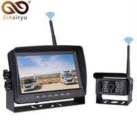 General Truck Digital Wireless Backup Camera System Kit IP69 Wireless Rear View Camera + 7 LCD Wireless Reversing Monitor