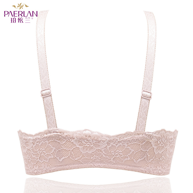 PAERLAN Wire Free Front Closure of the Women bra Floral Lace one-piece small chest Push Up Seamless sexy underwear Bow 3/4 Cup 4
