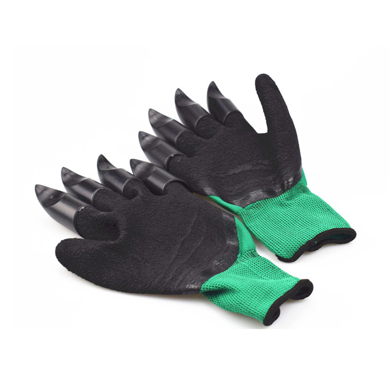 Garden Gloves For Digging Planting With 4 Abs Plastic Claws Gardening Gloves In Gloves